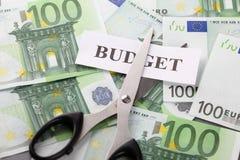 Budgetnedskärning Royaltyfria Bilder