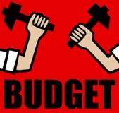 Budgetnedskärning Royaltyfria Foton