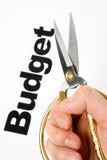 budgetnedskärning Arkivbild