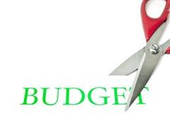 budgetnedskärningar royaltyfria bilder