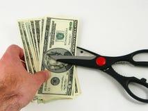 budgetnedskärningskatter royaltyfria foton