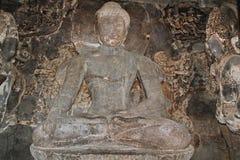 Budha修道院,埃洛拉石窟,印度 免版税库存照片