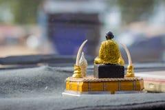 Budha坐指挥台 免版税库存照片
