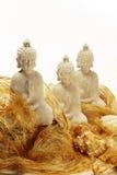 budha雕象三白色 免版税图库摄影
