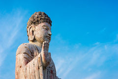 Budha. Buddha against a blue sky Royalty Free Stock Image