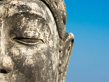 Budha. Buddha against a blue sky Royalty Free Stock Images