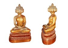 Budha 9 head in Thailand Stock Photos