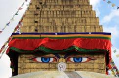 Budha Augen Stockbild