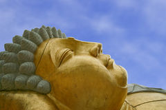 Budha detail. Buddhist gold and stone statue Royalty Free Stock Photos