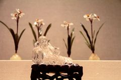 Budha di cristallo fotografie stock libere da diritti