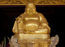 Budha dorato Immagine Stock Libera da Diritti