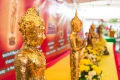 Budha. Gold foil budha in Bangkok, Thailand Stock Photo