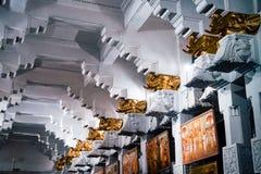 Budha Gouden Tempel bij het Suikergoed Sri Lanka stock fotografie