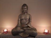 Budha odpoczynku joga tła holi candellicht Obraz Royalty Free