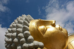 Budha rest. Ing with the sky blue background Royalty Free Stock Image