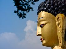 Budha's Profile Stock Images