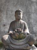 Budha sitting front statue royalty free stock image