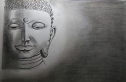 Budha. Sketch of LORD BUDHA made by me Stock Photos