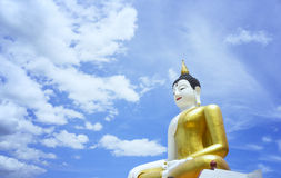 Budha and sky Backgrounds Stock Photos