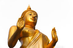 Budha statue, The attitude of persuading the relatives not to quarrel Royalty Free Stock Images