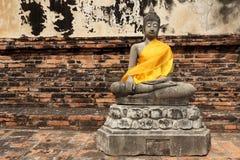 Budha-Statue in Ayutthaya Stockbilder