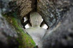 Budha statue inside stupa in Borobudur Temple Stock Image