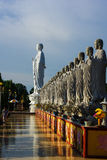 Budha statues in afternoon light Royalty Free Stock Photo
