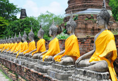 Budha statues in Ayutthaya Royalty Free Stock Images