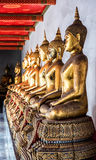 Budha Statues at Wat Pho. Buddha Statue In Wat Pho Temple, Thailand Royalty Free Stock Photos