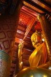 Budha staty i PA Nan Cherng Temple Royaltyfri Foto
