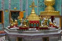 Budha staues in Burmese pagoda Royalty Free Stock Image