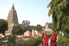 Budha Temple Complex, Bodhgaya Stock Image