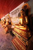 Budha of thai temple. Gold budha of thai temple Stock Image