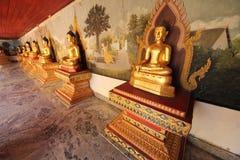 Budha of thai temple. Gold budha of thai temple Stock Photos