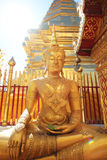 Budha of thai temple. Gold budha of thai temple Royalty Free Stock Photo