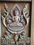 Budha. Wood art Royalty Free Stock Photography