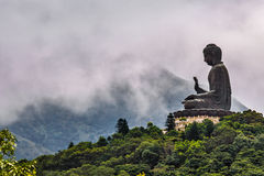 Budhha statue on the top of the hill. A Buddha statue in Hong Kong Royalty Free Stock Image