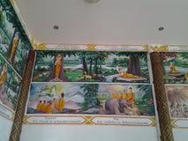 Budhha tmple墙壁 免版税库存图片