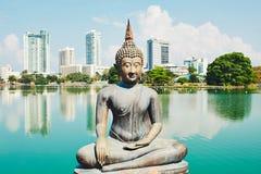 Budhist寺庙在科伦坡 免版税库存图片