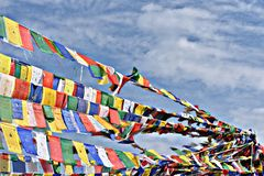 Budhist-Flaggen lizenzfreie stockfotografie