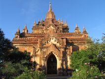 Budhist Pagoda. In the historical city of Bagan, Maynamar (Burma Stock Photo