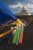 Budhist Shanti Stupa в Leh, Ladakh, Индии Стоковая Фотография