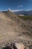 Budhist Shanti Stupa в Leh, Ladakh, Индии Стоковое Фото
