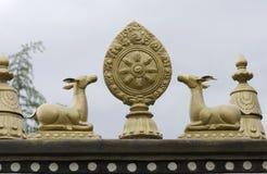 Budhist shrine details. Golden details on a buddhist shrine Royalty Free Stock Images