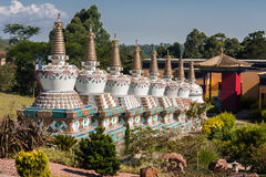 Budhist Stupas Khadro Ling Temple Royalty Free Stock Photos
