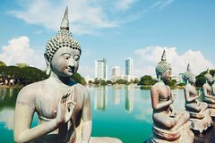 Budhist tempel i Colombo royaltyfri fotografi