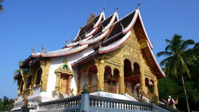 Budhist temple, Laos. Sacret site in UNESCO Heritage town of Luang Prabang Royalty Free Stock Photo