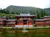 Budhist temple on Oahu Hawaii royalty free stock photography