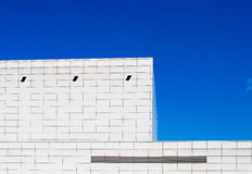 Buding blanc en ciel bleu Photographie stock