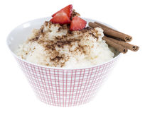 Budino di riso isolato su bianco Fotografia Stock Libera da Diritti